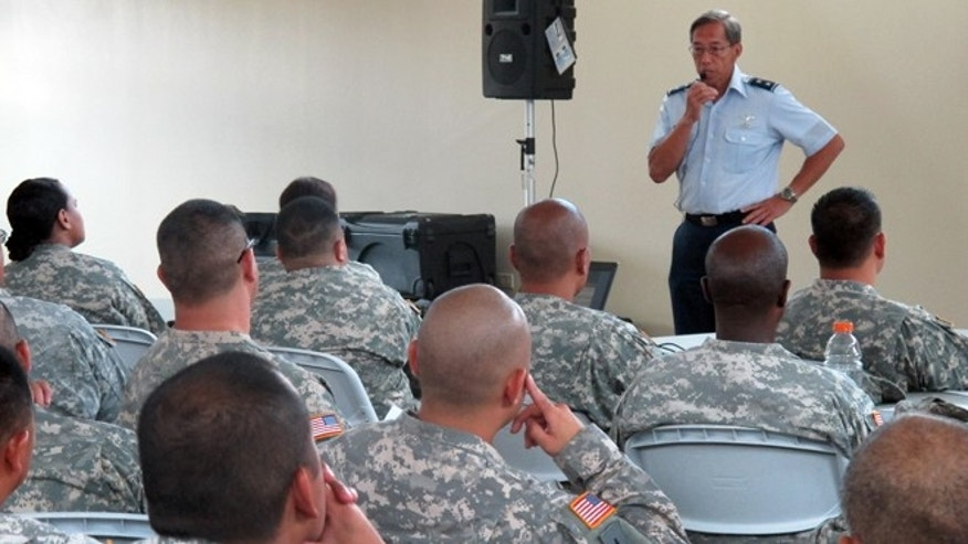 FILE: July 1, 2013:  Hawaii National Guard soldiers and airmen learn about about furloughs in Kapolei, Hawaii.