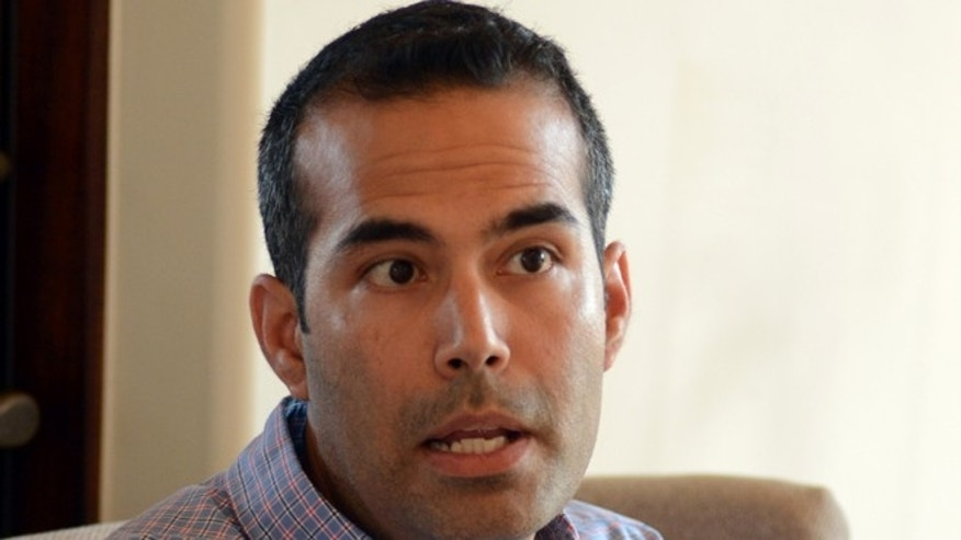 FILE: June 25, 2013: George P. Bush, 37, speaks during an interview with The Associated Press in Frisco, Texas.