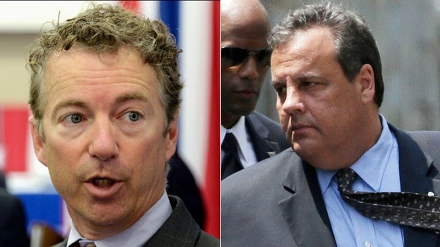 This split image shows Sen. Rand Paul (left) and Gov. Chris Christie (right)