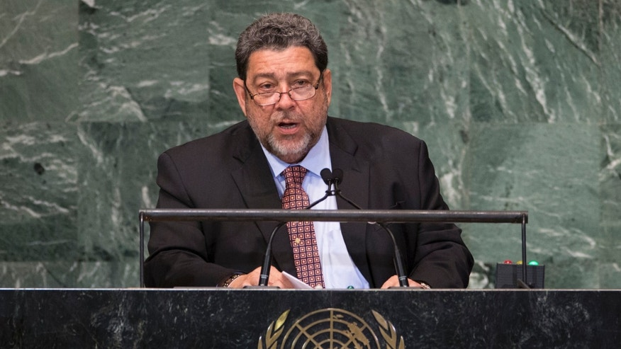 Saint Vincent and the Grenadines Prime Minister Ralph Gonsalves addresses the U.N. General Assembly.