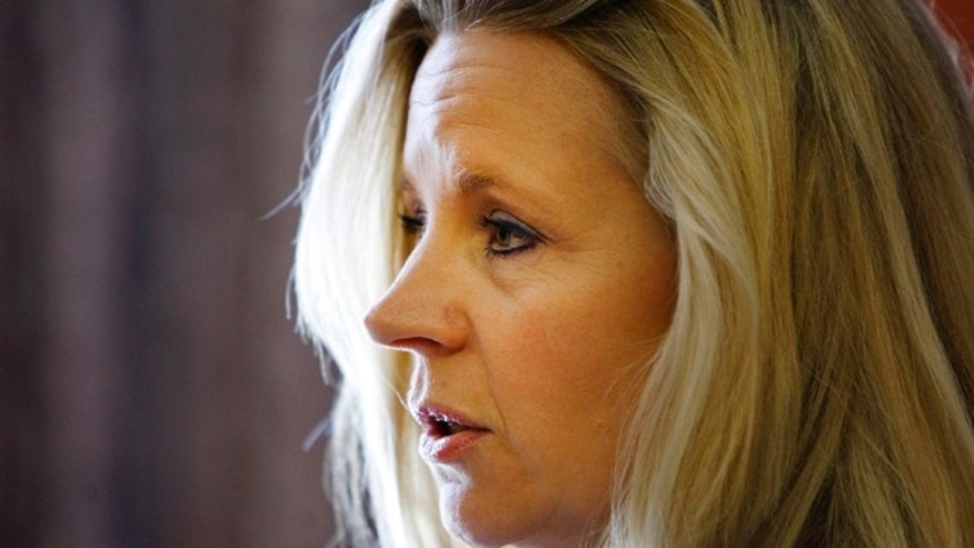 July 17, 2013: Liz Cheney, daughter of former Vice President Dick Cheney, talks to the press at the Parkway Plaza in Casper, Wyo.