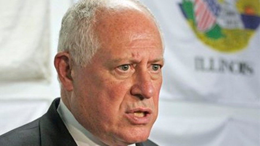 FILE:  Illinois Gov. Pat Quinn speaks at a news conference in Chicago.