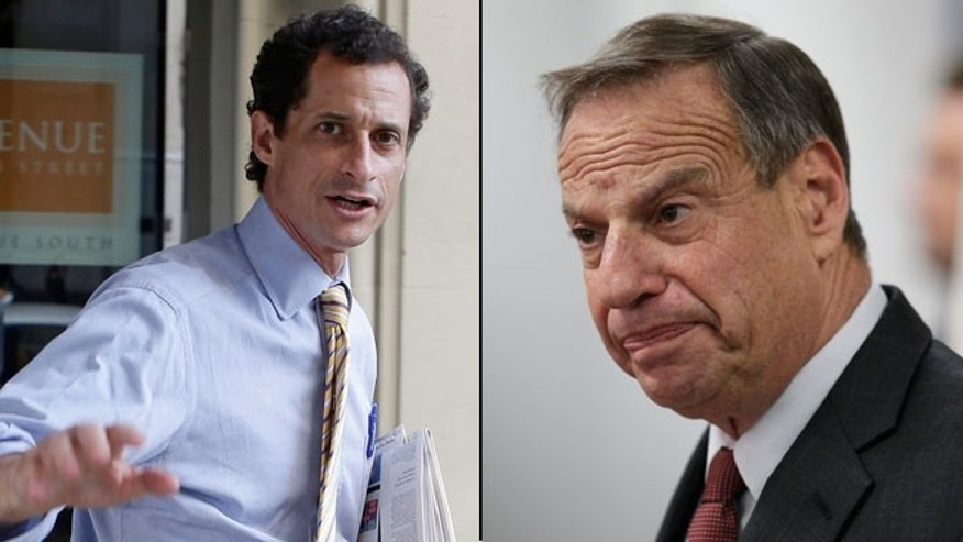 Shown here are New York mayoral candidate Anthony Weiner, left, and San Diego Mayor Bob Filner.