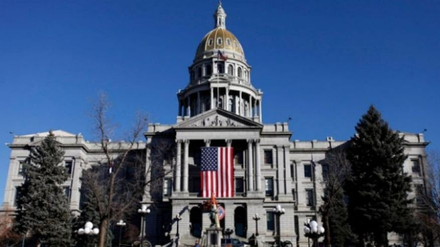 Jan. 7, 2011: This image shows the Colorado State Capitol in Denver.