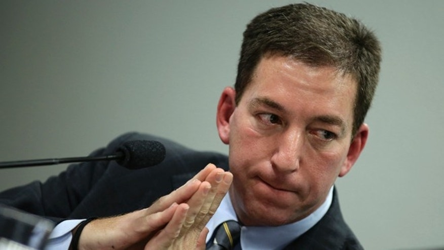 Aug. 6, 2013: Glenn Greenwald testifies before a Brazilian Congressional committee on the NSA's surveillance programs, in Brasilia.
