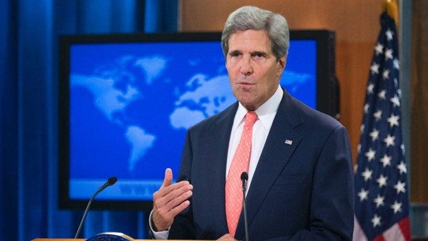 Aug. 26, 2013: Secretary of State John Kerry speaks at the State Department in Washington about Syria.
