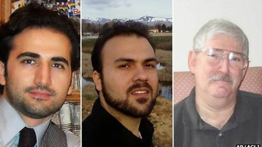 """The U.S. is """"deeply concerned"""" about (from left) Amir Hekmati, Saeed Abedini and Robert Levinson, according to Secretary of State John Kerry. (AP, ACLJ)"""
