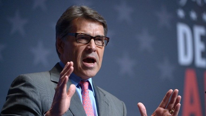 Aug 30, 2013: Texas Gov. Rick Perry addresses attendees of the Americans for Prosperity Foundation's Defending the American Dream Summit in Orlando, Fla.