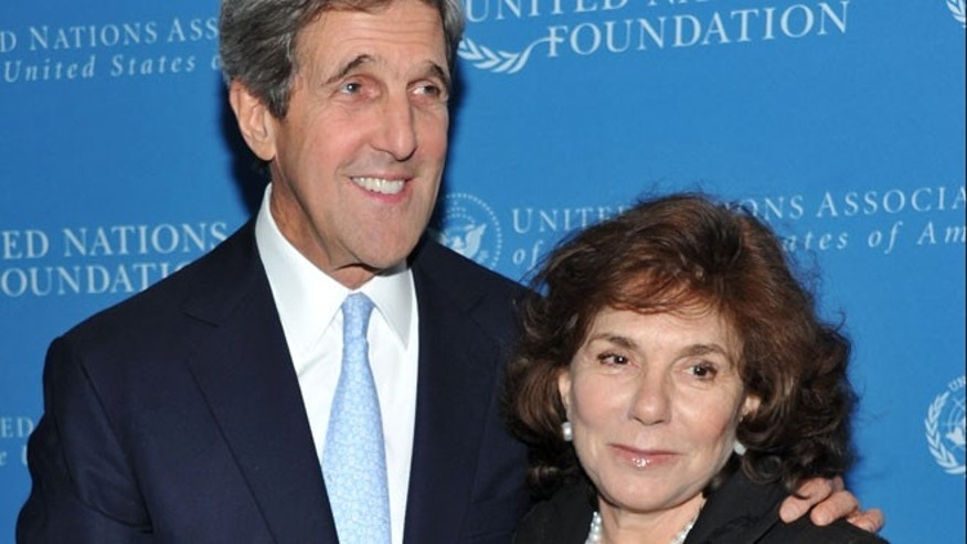 In a Nov. 18, 2010 file photo, Sen. John Kerry and wife Teresa Heinz Kerry attend the United Nations Foundation Annual Leadership Dinner at the Waldorf-Astoria Hotel in New York.
