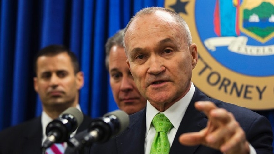 FILE: May 16, 2013: New York Police Department Commissioner Ray Kelly at a news conference in New York,  N.Y.