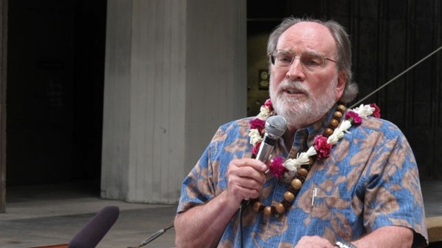 August 28, 2013: Hawaii Gov. Neil Abercrombie speaks at a rally in favor of gay marriage at the Hawaii Capitol in Honolulu. (AP Photo)