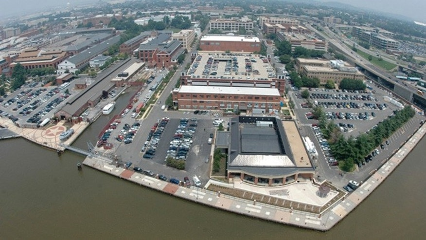 Shown here is an aerial view of the Washington Navy Yard.