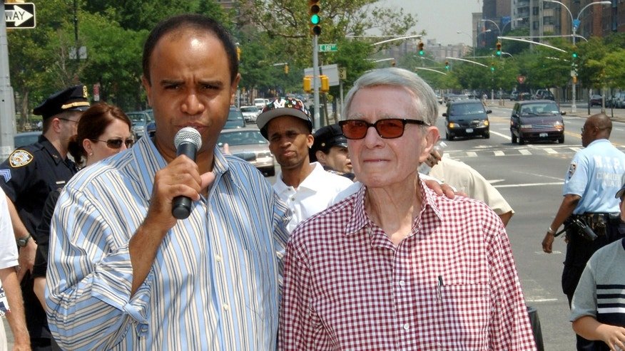 Adolfo Carrion, left, at the 2005 unveiling of the Bronx Walk of Fame. Carrion was Bronx borough president and is now running in the New York City mayoral race.