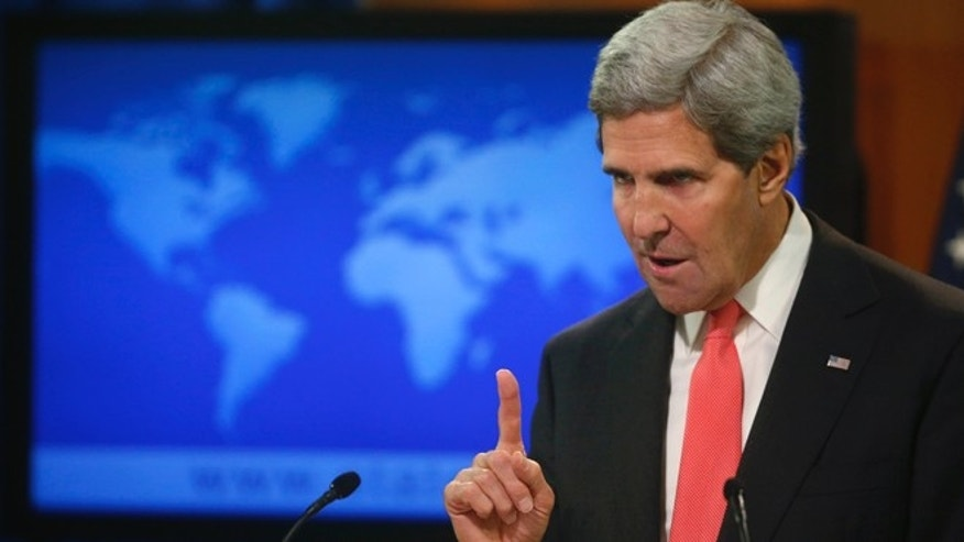 Sept. 19, 2013: Secretary of State John Kerry makes a statement about Syria and chemical weapons in Washington.
