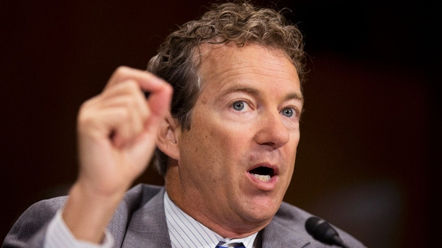 Sept. 18, 2013: Sen. Rand Paul, R-Ky., testifies before a Senate Judiciary Committee hearing to examine reevaluating the effectiveness of Federal mandatory minimum sentences, on Capitol Hill in Washington.