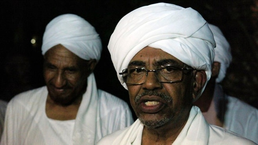 FILE: August 27, 2013: Sudan President Omar al-Bashir at a news conference in Omdurman, Sudan.