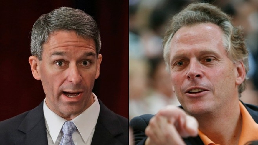 Shown here are Ken Cuccinelli, left, and Terry McAuliffe, candidates for Virginia governor.