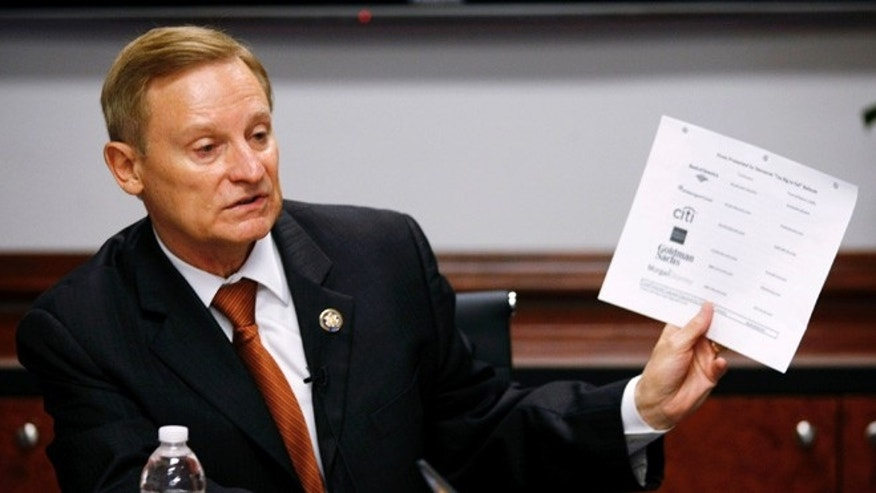 Sept. 23, 2010: House Financial Services Committee ranking member Spencer Bachus (R-AL) speaks during the Reuters Washington Summit.