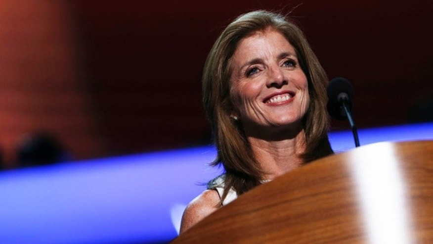 Caroline Kennedy address the final session of the Democratic National Convention in Charlotte, North Carolina September 6, 2012.
