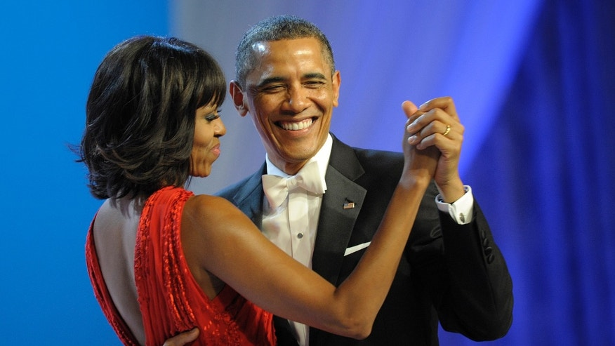 President Obama and first lady Michelle Obama during the 57th Presidential Inauguration in Washington, on Jan. 21, 2013.