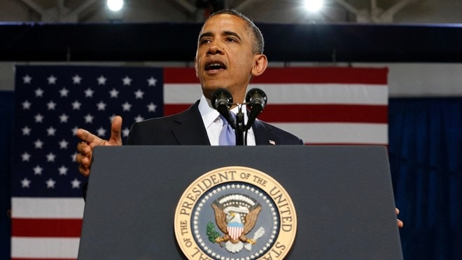 On the road again: Amid stalemate, Obama campaigns for budget bill