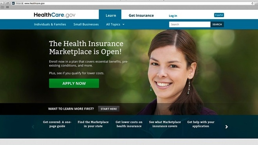 Oct. 4, 2013: This photo provided by HHS shows the main landing web page for HealthCare.gov. Bedeviled by technology glitches that frustrated millions of consumers, the Obama administration is taking down its health overhaul website for repairs this weekend.