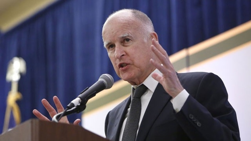 FILE - In this May 29, 2013 file photo, Gov. Jerry Brown at the California State Association of Counties Legislative Conference in Sacramento, Calif. (AP Photo)