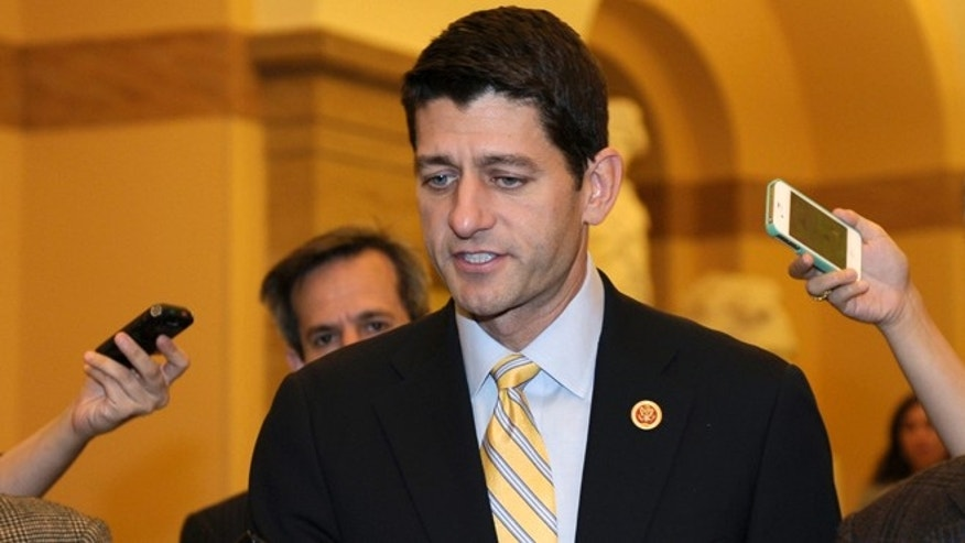 FILE: Oct. 10, 2013: House Budget Committee Chairman Rep. Paul Ryan, R-Wis., on Capitol Hill in Washington, D.C.