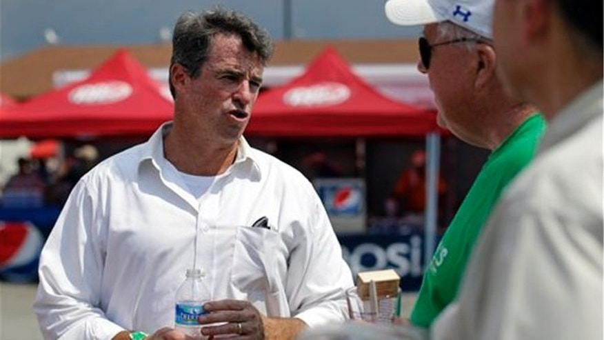 July 17, 2013: Maryland Attorney General Doug Gansler, candidate for Maryland governor, chats with festival-goers in Crisfield, Md.