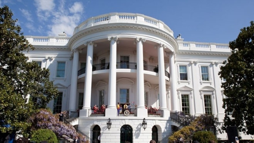 South Portico Balcony of the White House, April 9, 2012