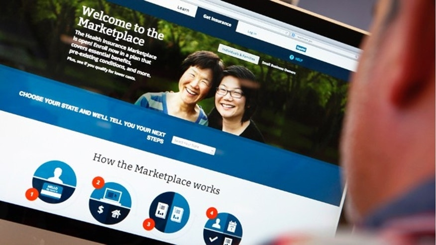 Oct. 2, 2013: A man looks over the Affordable Care Act (commonly known as Obamacare) signup page on the HealthCare.gov website in New York.
