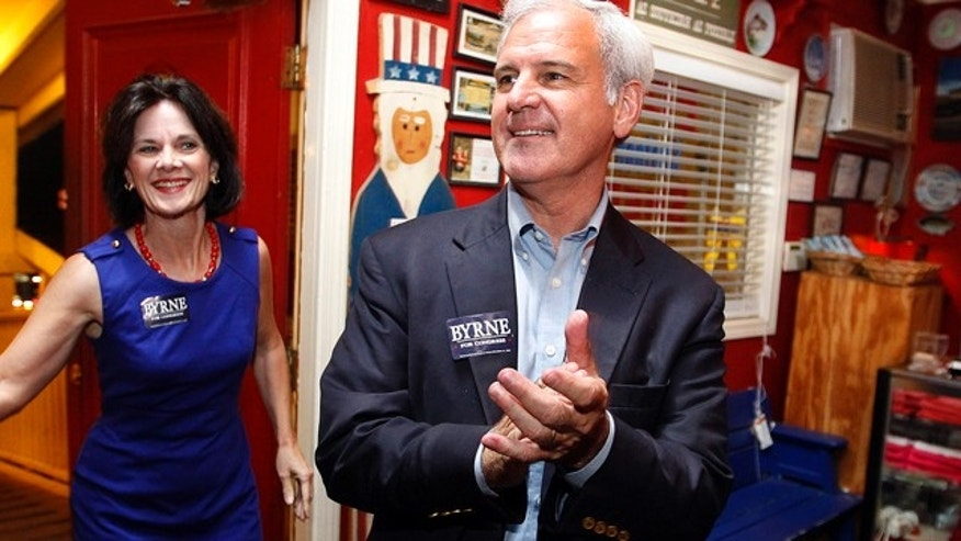 Sept. 24, 2013: Alabama's First District congressional seat candidate Bradley Byrne greets supporters.