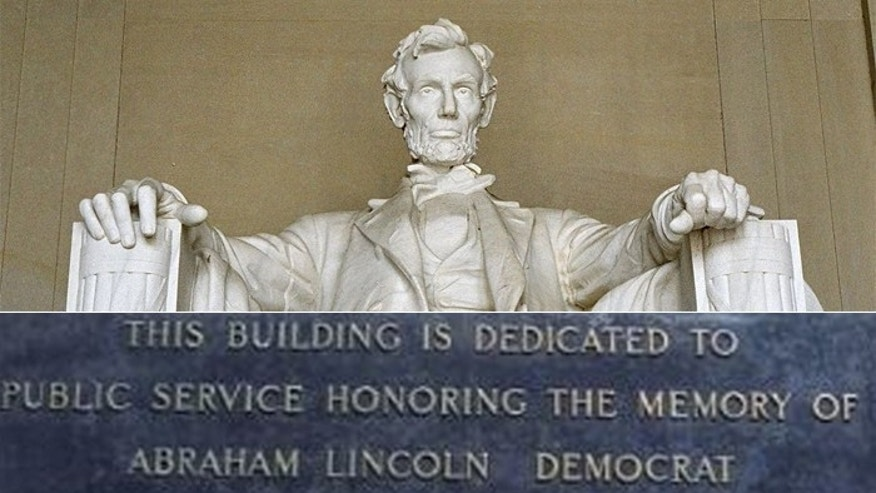 College Plaque In Land Of Lincoln Labels Abe A Democrat