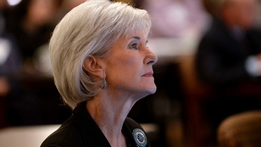 Department of Health and Human Services Secretary Kathleen Sebelius at the Carter Center on Friday, Nov. 8, 2013, in Atlanta.