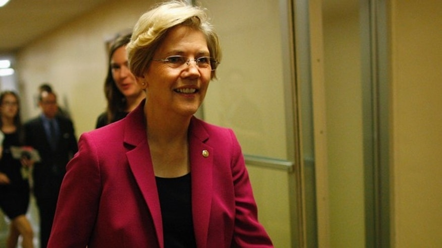 Sept. 27, 2013: Senator Elizabeth Warren departs after the Senate passed a spending bill to avoid a government shutdown.