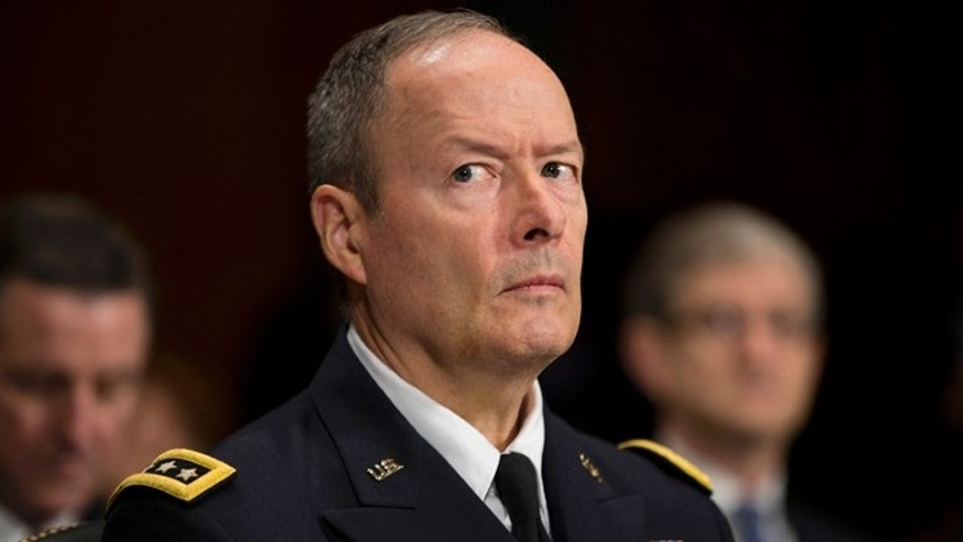 Oct. 2, 2013: National Security Agency Director Gen. Keith Alexander pauses while testifying on Capitol Hill  before the Senate Judiciary Committee oversight hearing on the Foreign Intelligence Surveillance Act.
