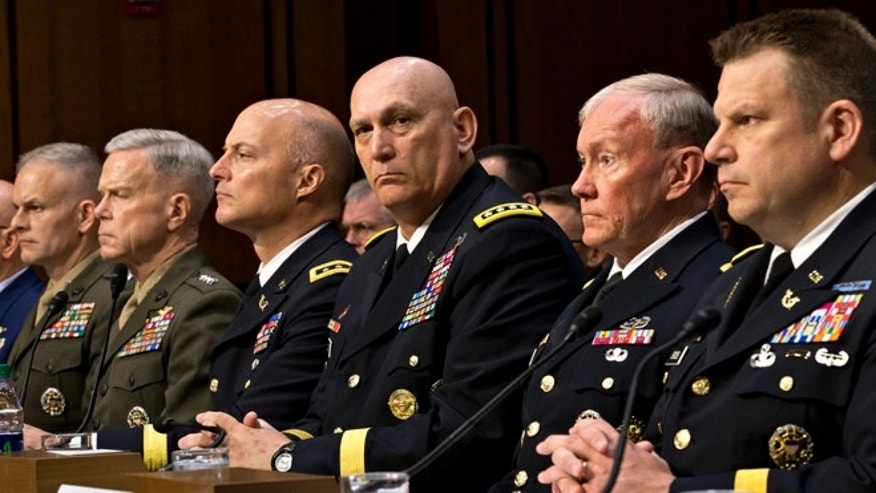 FILE; June 4, 2013, The legal counsel to the Chairman of the Joint Chiefs of Staff at a  hearing on Capitol Hill in Washington, D.C.
