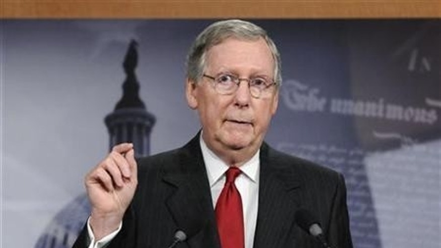 Senate Minority Leader Mitch McConnell speaks out on recess appointments.