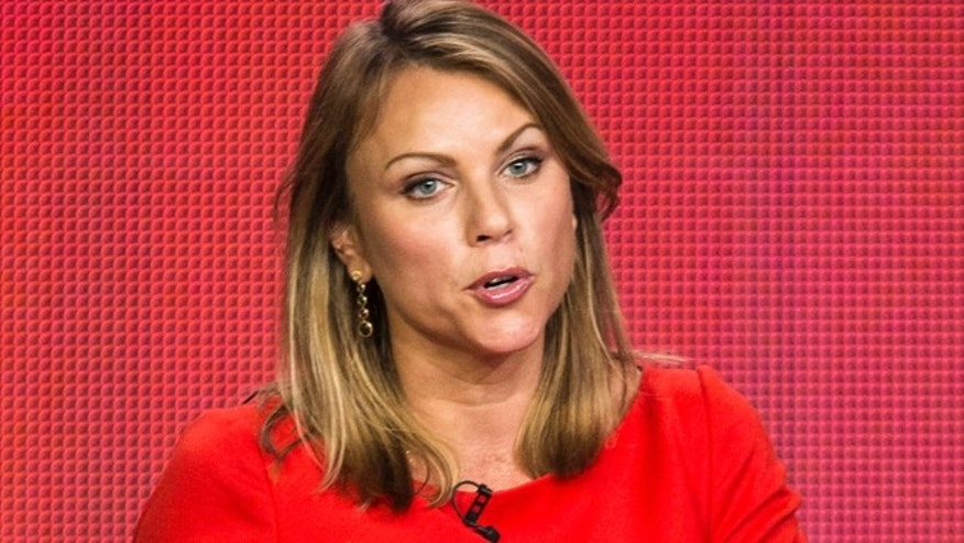 "Lara Logan of the show ""60 Minutes Sports"" listens to a question on stage during the Showtime panel presentation of the 2013 Winter Television Critics Association Press Tour in Pasadena, California January 12, 2013. REUTERS/Bret Hartman (UNITED STATES - Tags: ENTERTAINMENT MEDIA SPORT) - RTR3CDFS"
