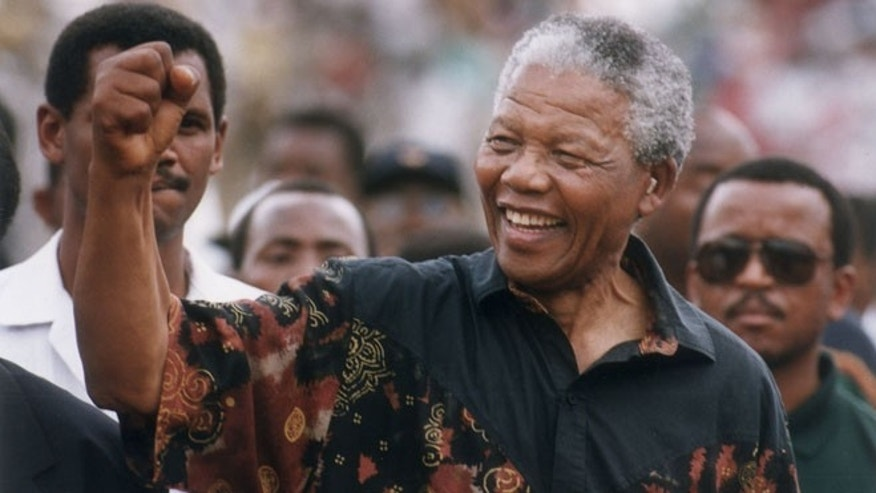 File photo of Nelson Mandela from 1994.
