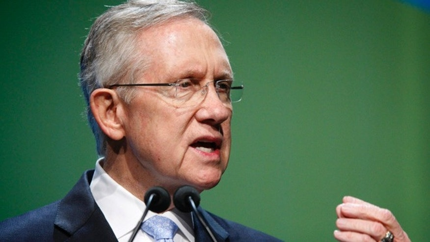 FILE: Aug. 7, 2012: Sen. Harry Reid, D-Nevada, at an energy summit at the Bellagio hotel, in Las Vegas, Nevada.