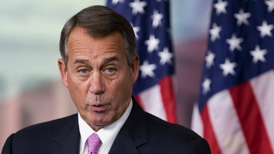 Dec. 5, 2013: House Speaker John Boehner speaks during a news conference on Capitol Hill.
