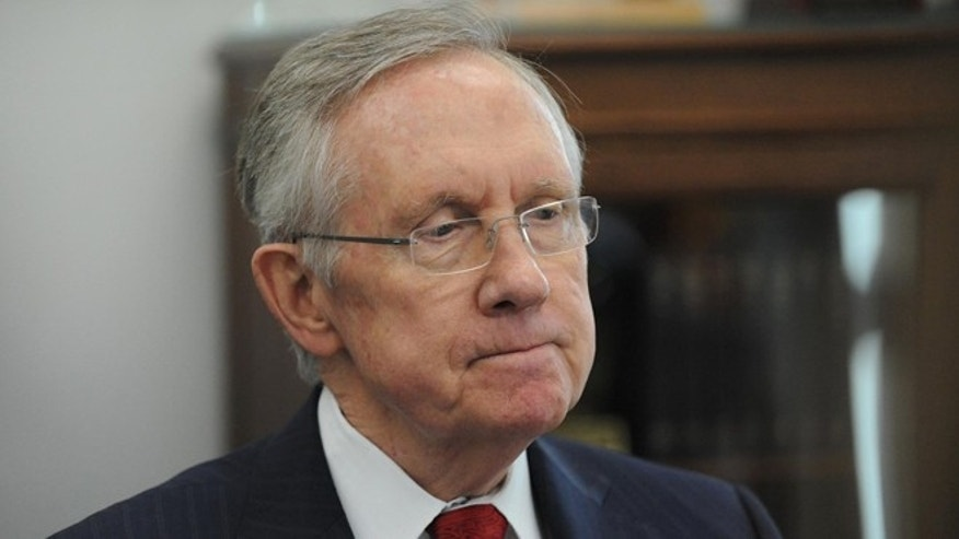FILE: Dec. 5, 2013:  Senate Majority Leader Harry Reid, D-Nev., during an interview in his office in Reno, Nev.