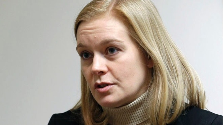 Jan. 24, 2013: April Todd-Malmlov addresses a question during an interview with The Associated Press in St. Paul, Minn.
