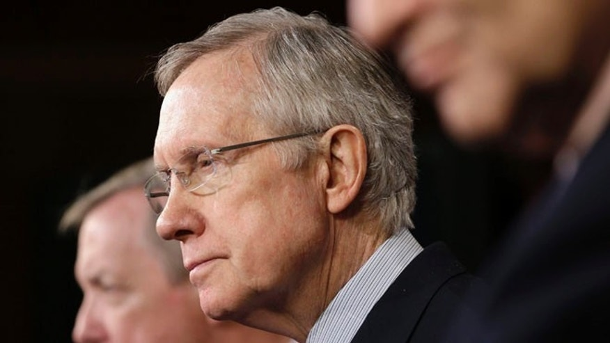 Senate Majority Leader Harry Reid of Nev. on Thursday, Dec. 12, 2013, on Capitol Hill in Washington.