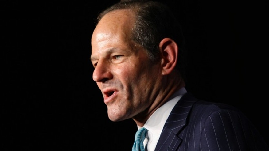 Sept. 10, 2013: Former New York State governor and Democratic candidate for New York City comptroller Eliot Spitzer speaks during his Democratic primary election night event in New York.