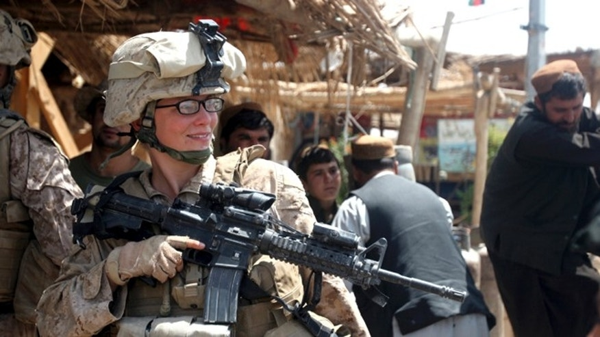 FILE: August 18, 2010: A female Marine in Marjah, Afghanistan.