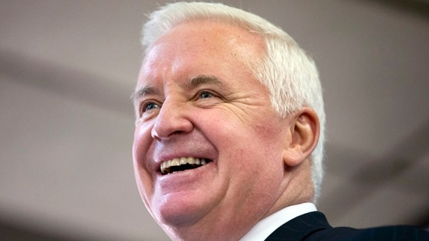 FILE: Nov. 7, 2013:  Pennsylvania GOP Gov. Tom Corbett in Philadelphia, Pa.
