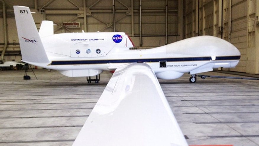 This Sept.  2013 file photo shows The Reaper drone, now known as a Global Hawk, at Edwards Air Force Base in California.