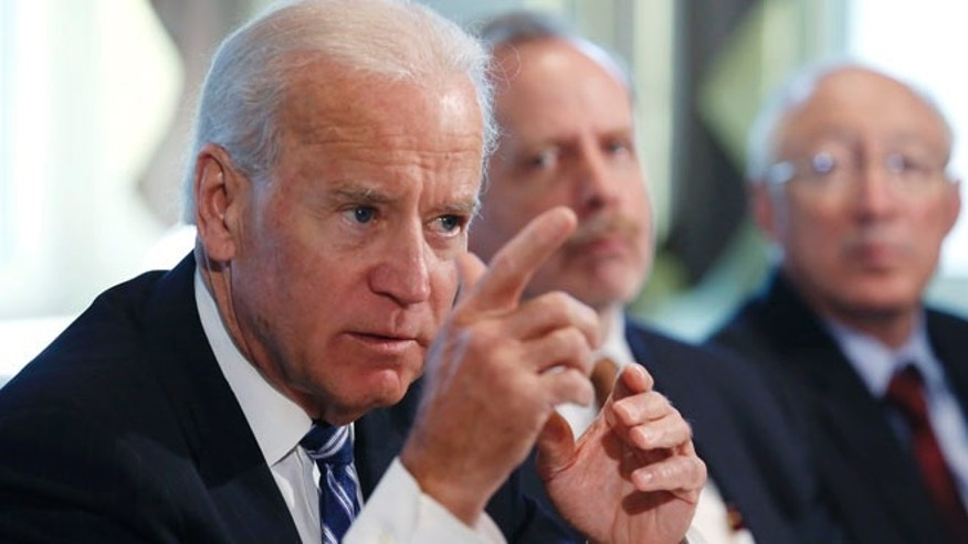 U.S. Vice President Joe Biden speaks during a meeting on curbing gun violence at the White House in Washington January 10, 2013.